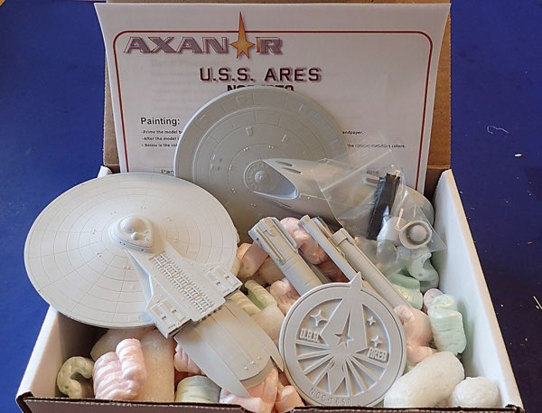 Kit Review: Starcraft's 1/1000 scale USS Aries, 2/16/16